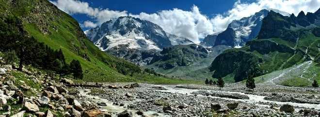 11.Горная система Кавказ,ущелье Адыр Су