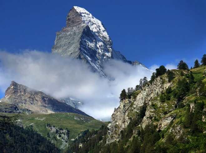 1.Горная система Альпы,Швейцария,г.Маттерхорн