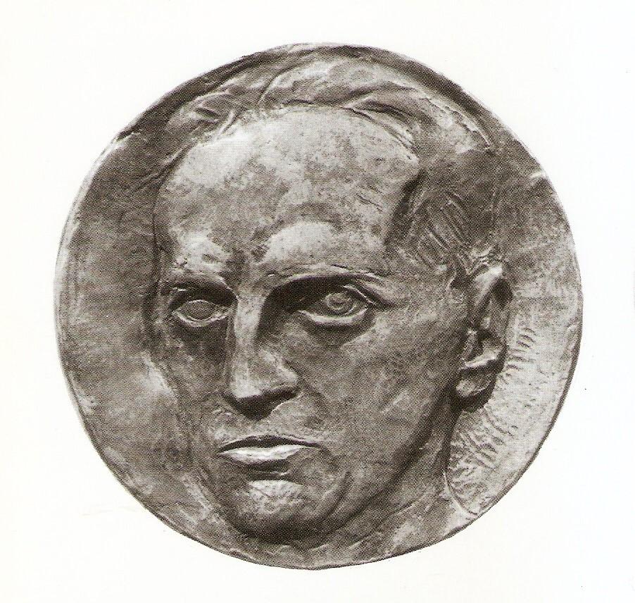 Автопортрет Бені Ференці на медалі